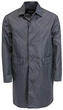 DSQUARED leichter, ungefütterter Nylon Mantel in dunklem graublau, Gr. 50
