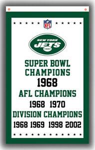 New York Jets Football Team Champion Memorable Flag 90x150cm 3x5ft best Banner