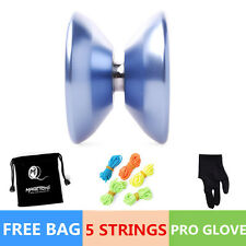 5 String 1Bag Blue Magic YOYO Ball T5 Overlord Aluminum Alloy Kids Toys Gift