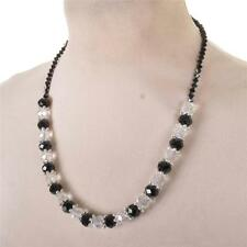 BLACK AND WHITE Luccicante Perline Collana IRIDESCENTE Pretty Elegante Nuovo Bnwt REGALO