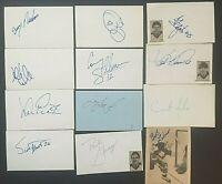 LOT OF 12 SIGNED HOCKEY GREATS INDEX CARDS Curt Giles Al Jafrate Bob Lasko NHL !