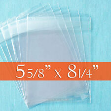 100 Clear Cello Bags, 5 5/8