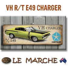 "🚘 VALIANT CHARGER ""VH RT E49"" Wooden Rustic Plaque / Sign (FREE POST) 🚘"