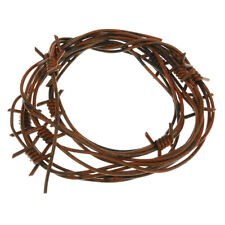 12 feet Fake Corroded look Barbed Wire Barb Prop Decor Crafts Western Farm Punk
