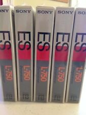 Vintage Sony Beta L-750 Blank Video Tape New Sealed Lot Of 5