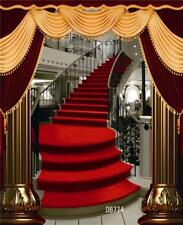 5X7FT Red Carpet Upstairs Photography Backdrop Studio Prop Background DB774