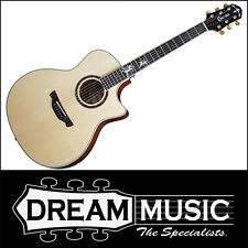 Crafter PG-ROSE Plus Electro-Acoustic 6 String Cutaway Natural Hardcase RRP$1499