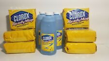 3 Bottles of CLOROX Ready Mop Advanced Floor Cleaner Refill and 6 Packs of Pads