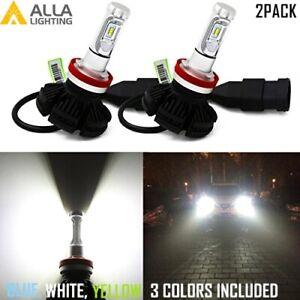 Alla Lighting 10000LM H11 LED lo /Main Beam hd-light Bulbs Lamps White Fog NEW