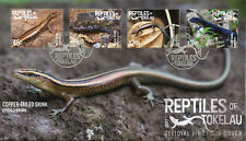 Tokelau 2017 FDC Reptiles of Tokelau Skinks Geckos 4v Set Cover Lizards Stamps