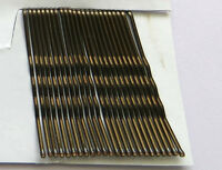 48 BOBBY KIRBY PINS BRONZI BROWN HAIR GRIPS CLIPS CLAMPS SALON WAVED SLIDES