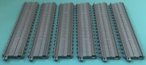 "LOT OF 6 Thomas the Train Trackmaster Gray Replacement 8.5"" Straight Track"