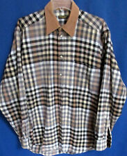 Frankonia Jagd  Men's L Plaid Long Sleeve Button Up Soft baumwolle Fabric