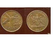 TRINIDAD ET TOBAGO    1  cent  1991   ANM