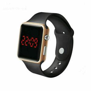 New LED Digital Screen Wrist Sport Watch For Men Women Unisex Boys Girls Kids UK