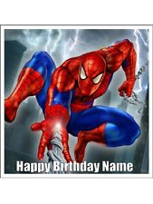 "SPIDERMAN 7"" (18cm) SQUARE REAL KOPYKAKE EDIBLE ICING IMAGE BIRTHDAY CAKE TOPPER"