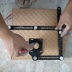 Regla para Baldosa Herramienta de Pisos con ángulos Plegable de Aluminio Losero