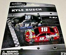 NASCAR AUTHENTICS 2019 1/87 #18 KYLE BUSCH SKITTLES & iK9.COM 2 CARS WAVE 3 NEW!
