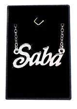 Collier Prénom SABA 18K Plaqué or blanc - Arabe Musulman Accessoires Petite amie