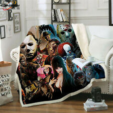 Horror Movie 3D Print Sherpa Blanket Sofa Couch Quilt Cover Throw R22