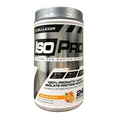 Cellucor ISO Pro Grass-Fed Native Whey Orang Citrus 1.85 lbs 24 Servings 02/2020