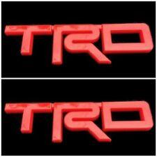 2 x TRD 3D RED BADGE EMBLEM LOGO DECALS STICKER RACING CAR TOYOTA REVO VIGO AUTO