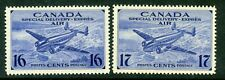 Weeda Canada CE1-CE2 VF MNH 1942-43 Special Delivery Airmail issues CV $12