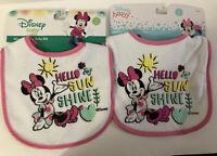 Baby Bibs-3Hello Sun Shine & 2 Berry Sweet Baby Minnie By Disney Lot Of 5
