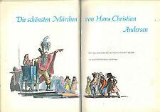 Cuentos de hadas más bella Andersen, andersen libro de cuentos, 243 ill. kraaz, mitad de cuero 1959