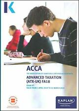ADVANCED TAXATION (ATX) (FA2018) (Acca Exam Kits) by Kaplan Publishing Book The