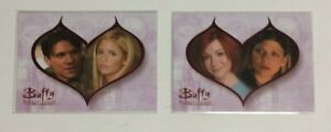 Lot of two BUFFY THE STORY SO FAR Couples chase set cards Ikon C5 C6