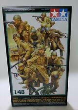 Tamiya WWII Russian Infantry & Tank Crew 1/48 32521, 15 Figures & Machine Guns