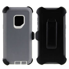 For Samsung Galaxy S9 Case Cover Rugged With (Belt Clip Fits Otterbox Defender)