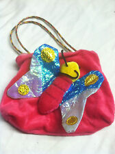 Small purse with a butterfly for a young girl S#G1