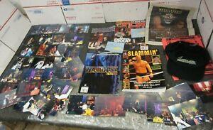 WWF WWE Magazines, Photos & Wrestle Mania x-7 Souvenir Program w/ Autographs LOT