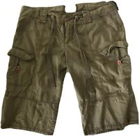 RARE Ruehl no.925 Tan Cargo Shorts Men's Size Medium EUC