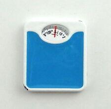 Maison De Poupées Balances De Pesage Miniature Accessoire De Salle De Bain Bleu