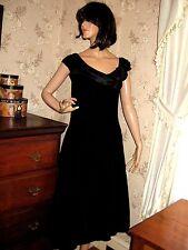 New listing Vintage 1980 Black Velvet Satin Cocktail Dress-Crinoline-Karen Lucas For Niki-12