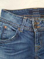 Hudson Blake Slim Straight Skinny Flap Pocket Distressed Denim Jeans 24