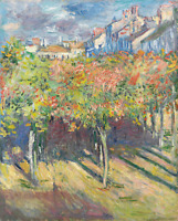 Lime Trees at Poissy Claude Monet Painting Print Canvas Giclee Wall Art Small