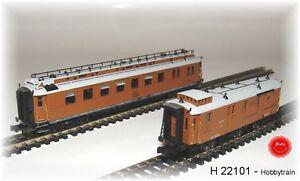 Hobbytrain 22101   CIWL Set 2, 2-tlg Ostende-Wien-Express 1xSpeisewagen 1xPostw