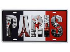 Schmuckes Vintage Blechschild Deko PARIS SOUVENIR FRANKREICH FLAGGE Retro Schild