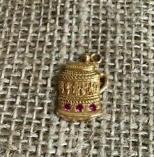 14kt Beer Stein Charm with Rubies