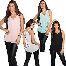 Lockre Sitzende Hüftlang Damenblusen,-Tops & -Shirts mit Rundhals für Party