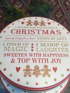 Christmas cake storage tins stack of 3 new