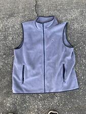 Vineyard Vines Mens Fleece Sherpa Vest Jacket Full Zip Gray Size XL Polyester