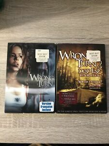 Wrong Turn 1 & 2: Dead End (DVD, Bilingual)-Horror With Slipcovers! Lenticular