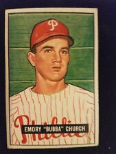 1951 Bowman Baseball Card # 149 Bubba Church RC