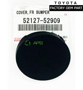 GENUINE TOYOTA YARIS 06-09 FRONT BUMPER TOW HOOK EYE CAP COVER OEM 52127-52909