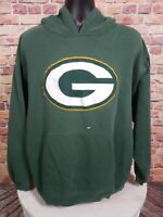 Vintage Green Bay Packers NFL Football Hoodie Hooded Sweatshirt Mens Size XL